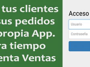 Gestión de un formulario de pedidos en una App. Prueba de funcionamiento.