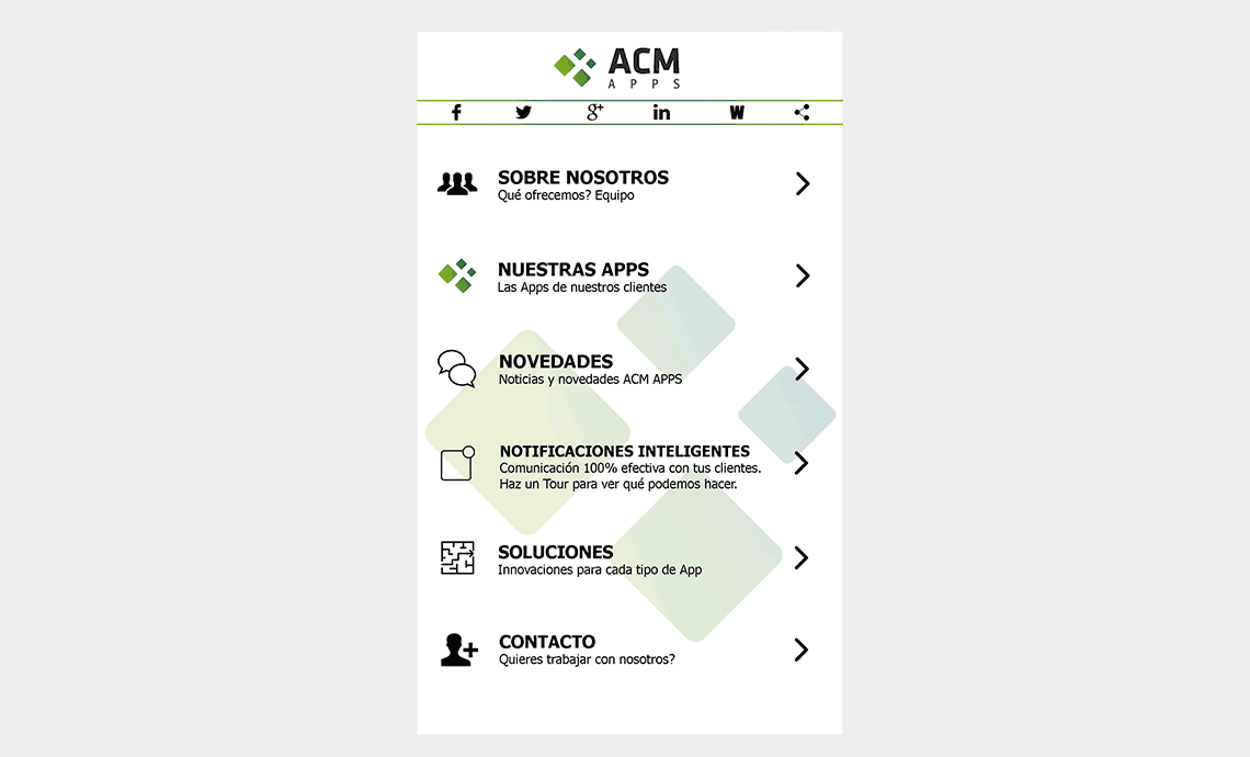 App ACM Apps SL - Home