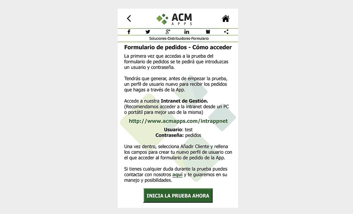 ACM Apps SL - Soluciones-Distribuidores-Formulario