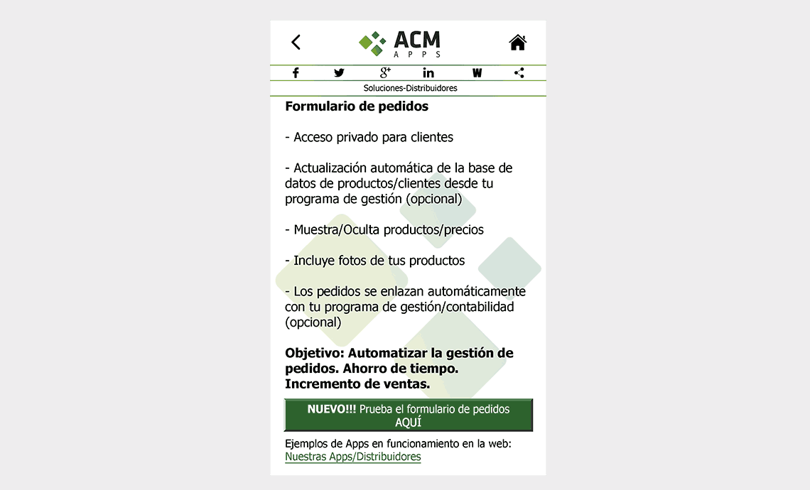 ACM Apps SL - Soluciones-Distribuidores